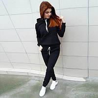 Спортивный костюм женский  с капюшоном черный