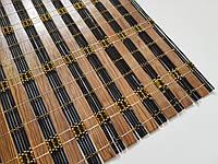 Бамбук на стол с золотой нитью.размер 60×90 (черное дерево)