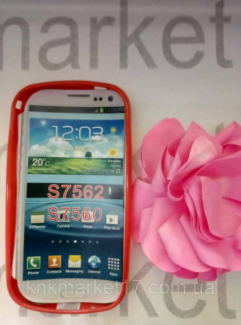 Case  for Samsung S7562/S7560, силикон, красный