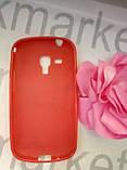 Case  for Samsung S7562/S7560, силикон, красный, фото 2