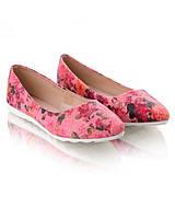 Балетки с цветочным принтом обувь для женщин 12829 хорошие