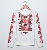 РАСПРОДАЖА Женский свитер-свитшот  Вышиванка на байке размер М(44-46)