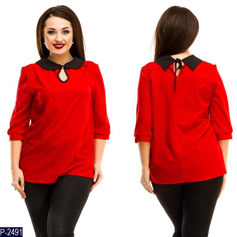 b9e388dfdbb Женская рубашка блузка нарядная 50 52 54 56 размер - Lider - интернет  магазин модной одежды