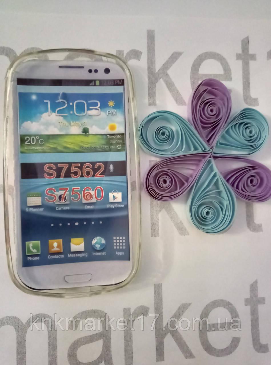 Case  for Samsung S7562/S7560, силикон, прозрачный принт