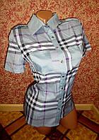 Женская рубашка короткий рукав