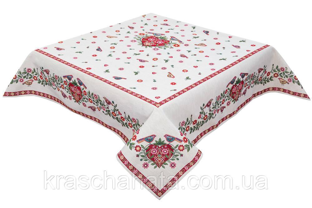Скатерть гобеленовая , 140х140 см, Эксклюзивные подарки, Столовый текстиль