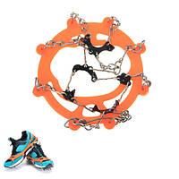 Пара противоскользящих чехлов для обуви Спайк-брызги Клики-кошки 8 зубов для ледового снегопада