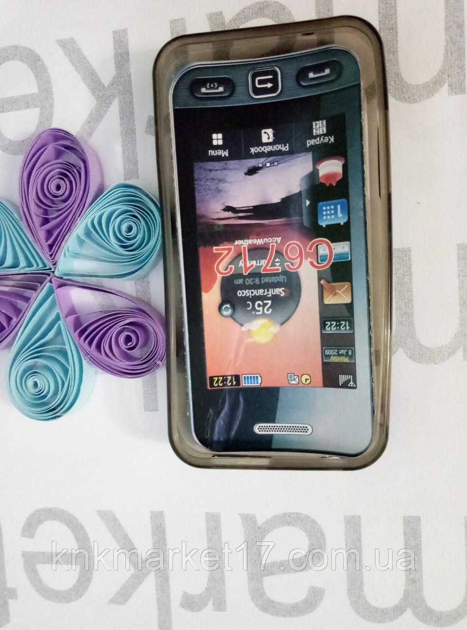 Case for Samsung C6712, силікон,чорний