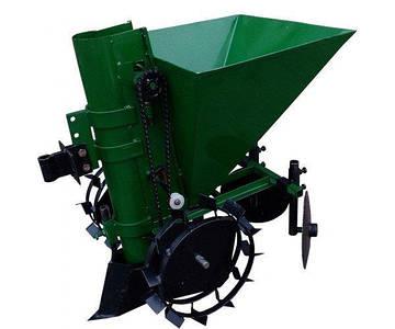 Картофелесажатель мотоблочный  П-1 Ц (зеленый)