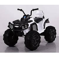 Детский электрический квадроцикл M 3156 EBLR-1 белый с мягкими колесами и пультом управления