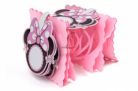 Бумажная гирлянда розовая Минни Маус, 3 метра