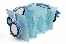 Бумажная гирлянда голубая Микки Маус, 3 метра