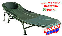 Раскладная рыбацкая кровать Ranger на 6 регулируемых ножках, раскладушка для карповой рыбалки (до 160 кг)
