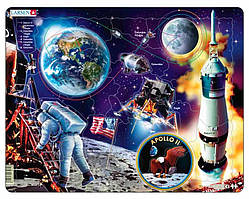 "Пазл рамка-вкладыш Путешествие на Луну ""Апполон-11"" Lasren серия Макси (NB5)"