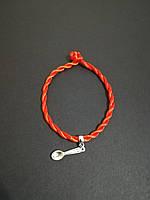 Браслет красная нить оберег от сглаза с талисманом Ложка загребушка