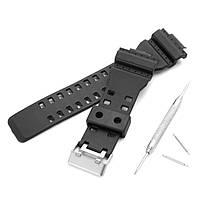 Запасные 16 мм резиновые черные часы Стандарты для CASIO GA-100 G-Shock GA-120/300 с ремонтом пряжки Инструмент