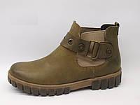 Ботинки детские замшевые олива, ботинки замшевые детские от производителя модель КА323-19Д