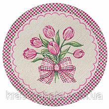 Салфетка гобеленовая, Тюльпаны, 30 см, Эксклюзивные подарки, Столовый текстиль