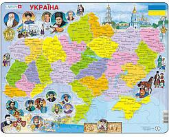 Пазл рамка-вкладыш Карта Украины - история Lasren серия Макси (K62)