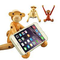 Деревянная деревянная обезьяна Дания Кукла Toy Desktop DIY Телефон Stand Holder для iPhone X 8 Samsung S8 Xiaomi