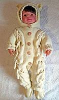 Комплект тройка для новорожденного Мишка меринос/акрил Молоко