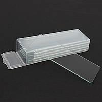 5шт.Один вогнутый микроскоп Стеклянные слайды Многоразовые лабораторные пустые 1мм