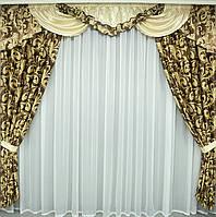 Комплект штор с ламбрекеном Ноель блекаут 2 метра