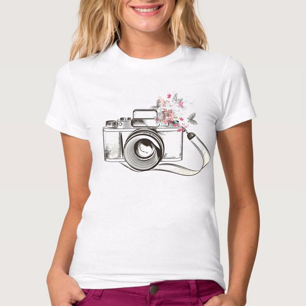 Футболка женская  фотоаппарат