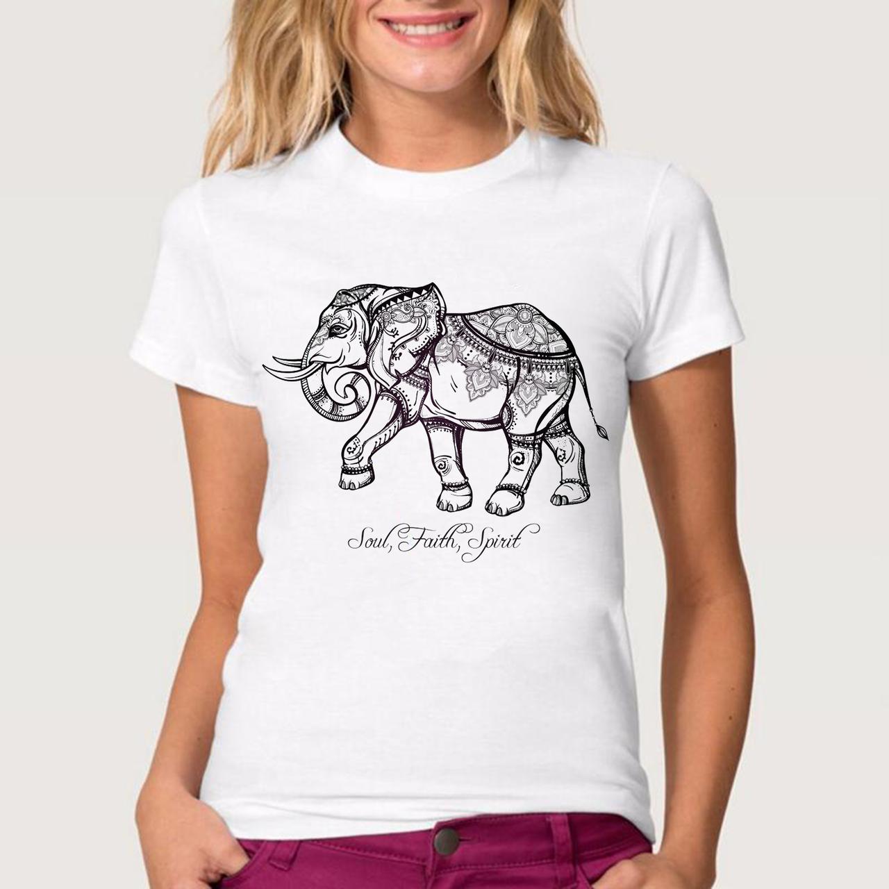 Футболка женская слон