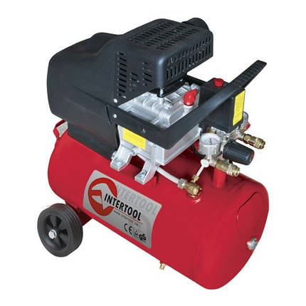 Компрессор 24л, 2HP, 1.5кВт, 220В, 8атм, 206л/мин. PT-0009 Intertool, фото 2