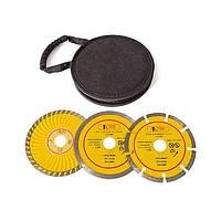 Набор отрезных дисков алмазных 125мм, 3шт. CT-1050 Intertool