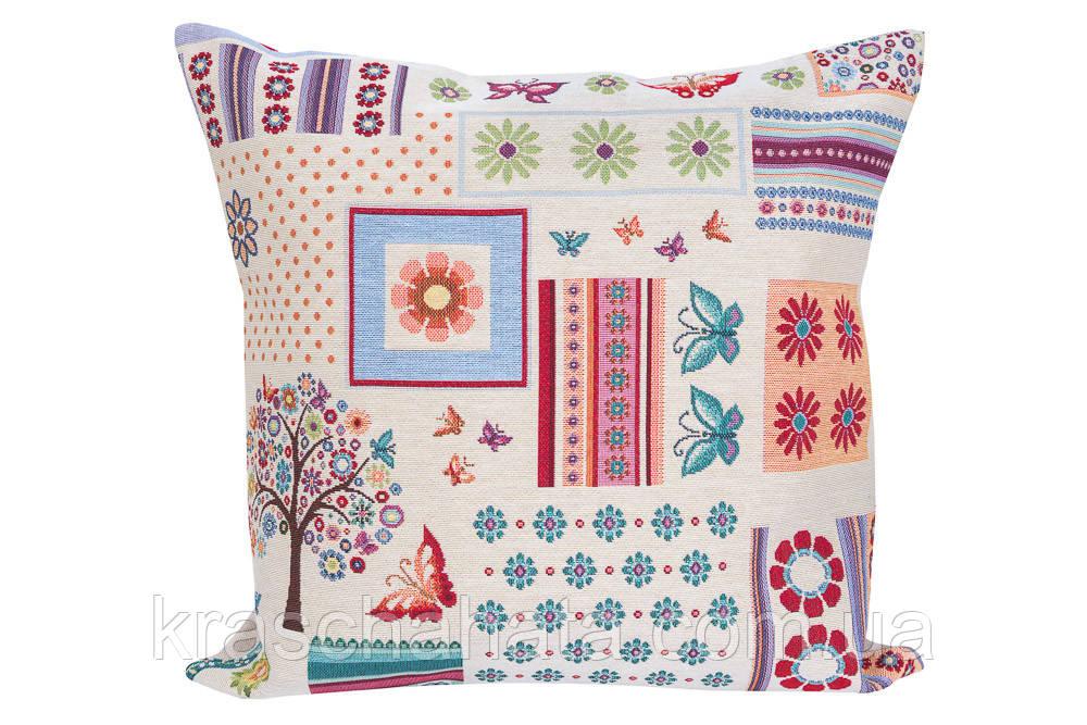 Наволочка гобеленовая декоративная, 45х45 см, Эксклюзивные подарки, Столовый текстиль