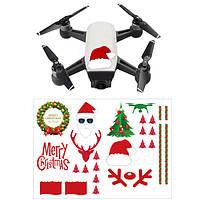 DIY Набор наклеек для рождественских наклеек Декоративные наклейки для DJI Spark Mavic Pro Phantom 4 Pro/3 SE Дрон