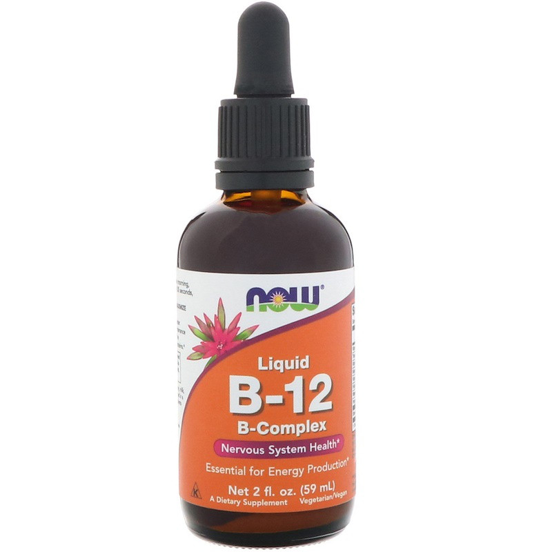 Витамины NOW B-12 Liquid B-Complex 59 ml