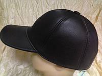 Бейсболка коричневая из натур кожи 56-58