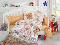 Детский комплект постельного белья (в кроватку), поплин