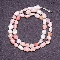 Бусины из натурального камня Опал розовый галтовка d-7х9мм(+-) нитка L-39см