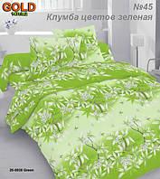 Ткань бязь Голд 147г-м2 - Клумба цветов зеленая
