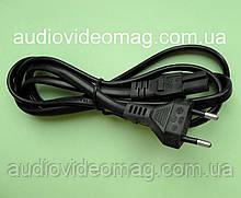 Шнур сетевой двухпиновый 220V для портативной техники, усиленный, 1,5 м