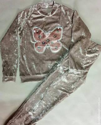 77737 Костюм мраморный велюр 'Бабочка'