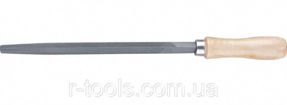 Напильник 200 мм трехгранный деревянная ручка Сибртех 16026