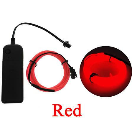Светодиодная лента провод 3м LED неоновый свет с контроллером, фото 2