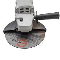 Шлифмашина угловая 1650 Вт, 8000 об/мин, диаметр круга 180 мм, фиксатор DT-0218 Intertool, фото 2