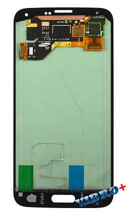 Дисплей (экран) Samsung G900F Galaxy S5, G900H with touch screen (с тачскрином в сборе) ORIG, white (белый), фото 2