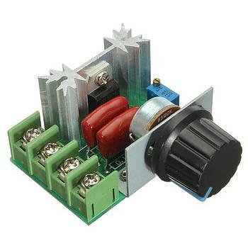 Диммер тиристорный регулятор переменного напряжения мощности 220в/9А до 2кВт