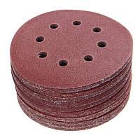 50шт 125 мм 8 отверстий Крюк Шлифовальные круги для шва 40/60/80/100/120 Grit Sander Pad Set