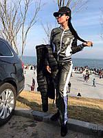 Женский стильный спортивный костюм с лампасами. Ткань: плащевка. Размер: см,мл.