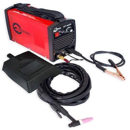 Сварочный инвертор для аргоно-дуговой сварки 230В, 4.5кВт, 10-200А DT-4220 Intertool, фото 2