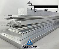 Полоса алюминиевая 80х8 мм без покрытия