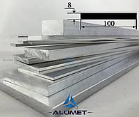 Полоса алюминиевая 100х8 мм без покрытия